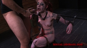 Ginger inked babe in cuffs and chains ge - XXX Dessert - Picture 7
