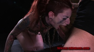 Ginger inked babe in cuffs and chains ge - XXX Dessert - Picture 13