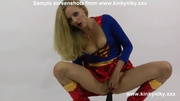 blonde supergirl pounding her