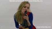 blonde supergirl pounding her