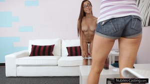 Brunette teen bitch in a vest and jeans  - XXX Dessert - Picture 10