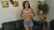 lovely brunette teen girl