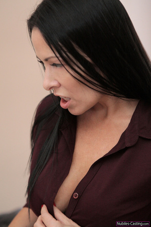 Hot brunette MILF shooting on camera lov - XXX Dessert - Picture 7
