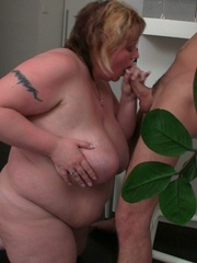 All that fat on her BBW body bounces and jiggles as she - Picture 11