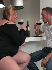 The fat girl has him aroused like he can't believe so he - Picture 3