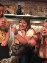 Beautiful chubby babes have been drinking at the party - Picture 1