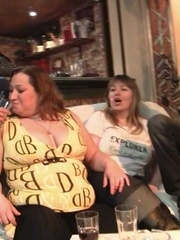 Beautiful chubby babes have been drinking at the party - Picture 3