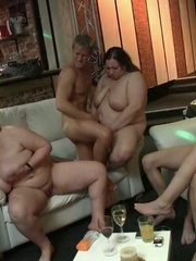 Beautiful chubby babes have been drinking at the party - Picture 14