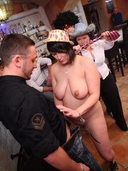See the drunk BBWs take off their clothes and play - Picture 13