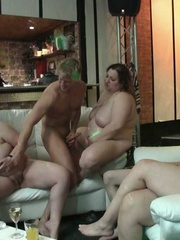 The horny fat sluts are slammed hard by big dicks and - Picture 14