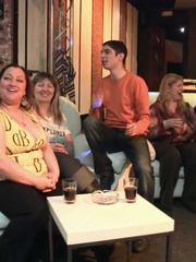 The fatty at the BBW orgy party in the bar is bent over - Picture 3