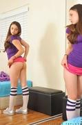 big boobs, socks, teen, thongs