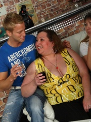 The beautiful BBW party shows hot fat chicks sucking and - Picture 3