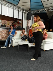The beautiful BBW party shows hot fat chicks sucking and - Picture 4