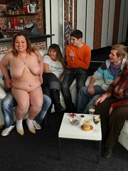 The beautiful BBW party shows hot fat chicks sucking and - Picture 8