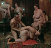 The incredible plumper porn scene has three ladies and three men going