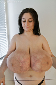 brunette mature with gigantomastia