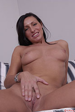 Brunette MILF undresses to present her f - XXX Dessert - Picture 5