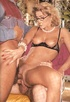 Vintage blonde MILF in glasses getting gangbanged
