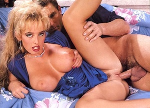 Busty blonde in blue lingerie getting he - XXX Dessert - Picture 4