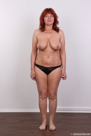 Hot matured sexy redhead milf shows big  - Picture 9