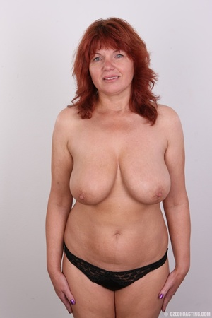 Hot matured sexy redhead milf shows big  - Picture 11