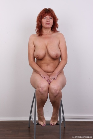 Hot matured sexy redhead milf shows big  - Picture 18