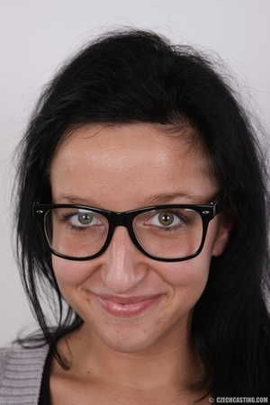 Young babe in glasses with charming smil - XXX Dessert - Picture 1
