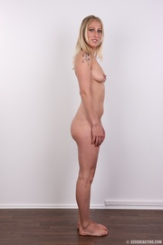 hot slim blonde with