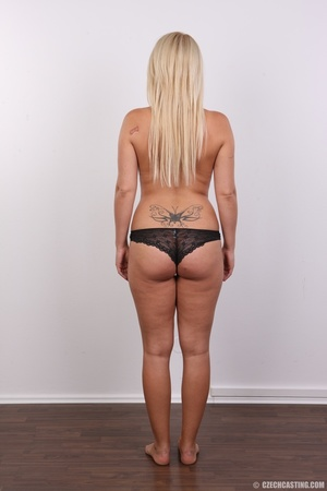 Blonde with tattoo above sweet butt show - XXX Dessert - Picture 9