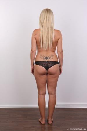 Blonde with tattoo above sweet butt show - XXX Dessert - Picture 9