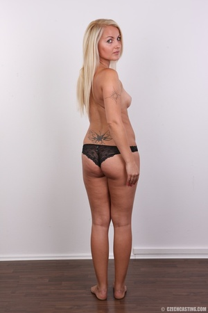 Blonde with tattoo above sweet butt show - XXX Dessert - Picture 10