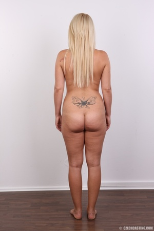 Blonde with tattoo above sweet butt show - XXX Dessert - Picture 16