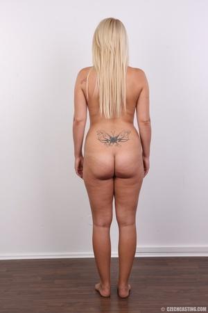 Blonde with tattoo above sweet butt show - XXX Dessert - Picture 16