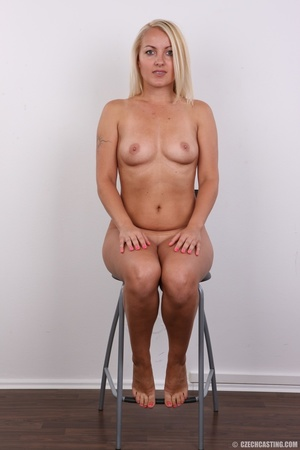 Blonde with tattoo above sweet butt show - XXX Dessert - Picture 18