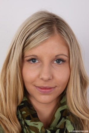 Sweet lusty blonde with sexy eyes shows  - XXX Dessert - Picture 1
