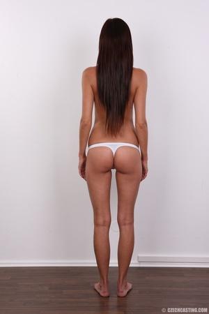 Petite sexy brunette chicks shows slim f - XXX Dessert - Picture 9