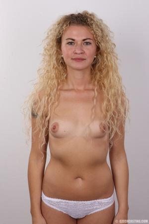 Curly hair pretty blonde shows cute smal - XXX Dessert - Picture 10