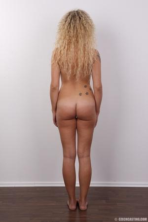 Curly hair pretty blonde shows cute smal - XXX Dessert - Picture 17