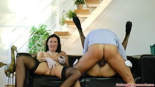 blowjobs, old young, stockings, threesome ffm