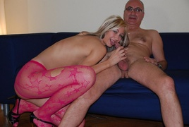 blonde, old young, upskirt, young old