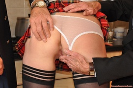 boobs, old young, threesome mmf, upskirt