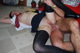 amateur, old young, stockings, young old