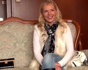 lovely blondie fur coat