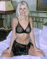 elegant blonde beauty with