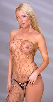 hot blonde beauty with