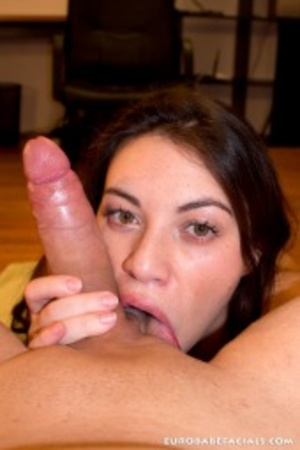 This foxy brunette loves to suck his bal - XXX Dessert - Picture 9