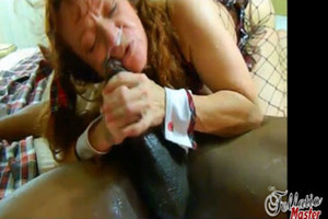 This redhead whore just loves to shove his big black cock inside her cunt. - XXXonXXX - Pic 7