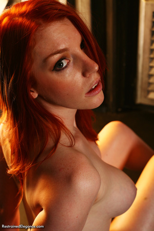 Pretty red head with sexy bouncy tits, h - XXX Dessert - Picture 8