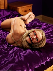 nude blonde glasses with
